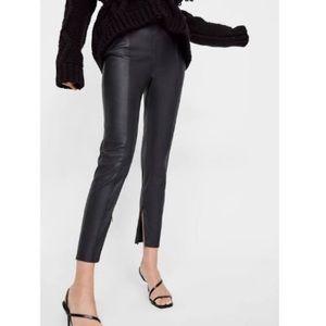Zara Faux Leather Pants Sz. XS